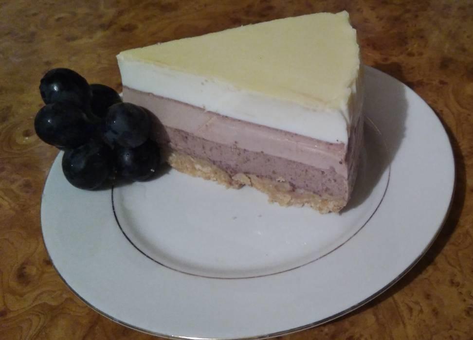 Торта с три вида шоколад